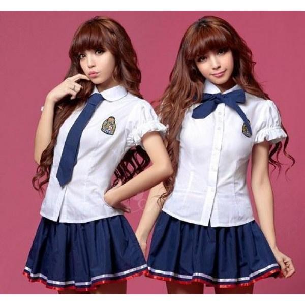 日本學生裝 - 藍白色水手服均碼純情情趣制服