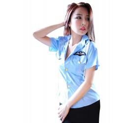 制服篇女警 - 藍色均碼女警開胸内衣性感情趣內衣