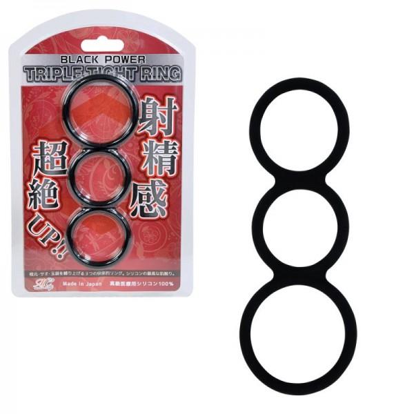 日本Black Power 矽膠持久環 (三環)