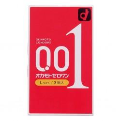 岡本 0.01大碼 PU 安全套 (3 片裝)
