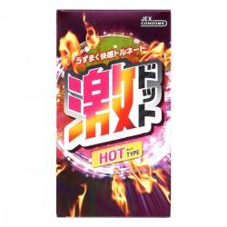 日本 JEX.激 超級凸點熱感型 HOT  (8片裝)
