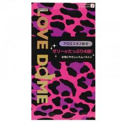 日本岡本 - Love Dome 粉紅豹紋 超潤滑四倍蘆薈 安全套 (12片裝)