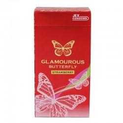 日本 魅力蝴蝶 草莓味 安全套(6片裝)