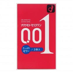 岡本 0.01 潤滑劑加量 3 片裝 PU 安全套