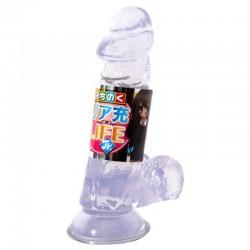 日本NPG 吸盤逼真仿真陽具(S) 透明